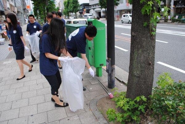天神祭 清掃ボランティア活動に参加します